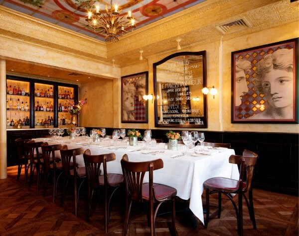 Group Dining room in Covent Garden at Balthazar restaurant
